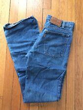 Vintage 1980's Men's LEVI'S Leather Tag Denim Jeans Orange Size 30 x 34 USA