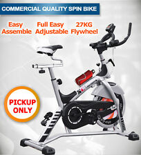 NEW 27kg COMMERCIAL SPIN BIKE FLYWHEEL EXERCISE FITNESS GYM PULSE BRISBANE