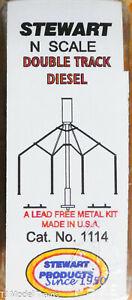 Stewart N Scale #1114 Double Track Diesel Sanding Tower (White Metal)