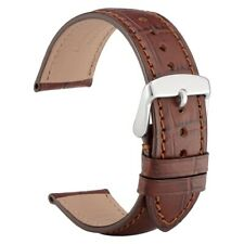 WOCCI Italy Leather Watch Band 18mm 19mm 20mm 21mm 22mm Alligator Embossed Strap