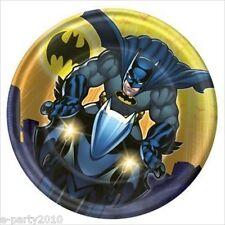 BATMAN Dark Knight SMALL PAPER PLATES (8) ~ Birthday Party Supplies Cake Dessert