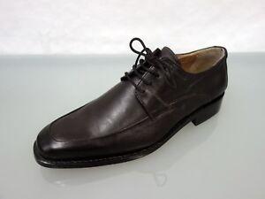 NEU ROMEO rahmengenähte Designer Leder Schnürer Gr.41/42 Shoes Schuhe Braun