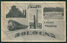 Bologna città Saluti a grande velocità Treno cartolina QQ9017