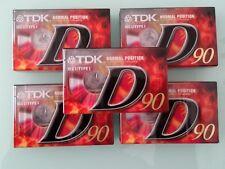 5pcs cassette sealed tapes Tdk 90 d-90EB  cintas caset D90  type I k7 MC  tapes