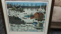 Charles Wysocki Limited Edition Winter Print Fox Run Signed 160/1000 FRAMED