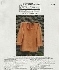 "Bijoux Blouse Easy Knitting Instruction Pattern Oat Couture Ek704 Size 36"" - 54"""