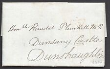 1835 Irish free frank entire to MP Randall Plunkett  with  Rathangan straight li