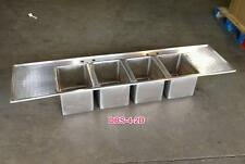 4 Bowl Drop In Bar Sink With 2 Drain Boards