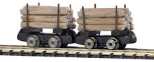 Busch HOF 5025 Mine Railway Two Flatcar with Real holzbeladung #