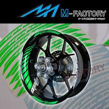For Kawasaki Z750S / R Z1000 SX #GP2 Green Fluorescent Wheel Stripes Rim Sticker