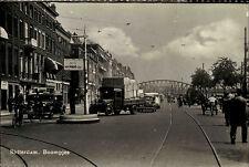 Rotterdam Niederlande s/w Postkarte ~1950/60 Boompjes Straßenpartie LKW Auto Car