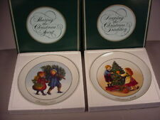 Avon Christmas Collector Plates 1981 & 1982 First of the series Mib long retired