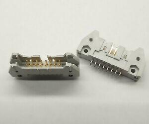 2 PCS. IDC box header right male 16 pole 2.54mm