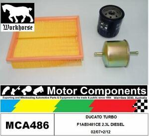 FILTER SERVICE KIT for  FIAT DUCATO Turbo F1AE0481CÊ2.3L DIESEL 2/07>2/12