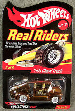 HOT WHEELS ~ REAL RIDERS ~ 1950 CHEVY TRUCK ~ HW COLLECTORS.COM ~ ORANGE
