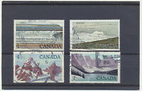 Canada National Parks 4 diff High Face Value Used Stamps #726, 727, 934, 936