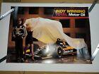 Bobby Rahal Total Motor Oil/Miller Genuine Draft Indy Winning poster/500 car