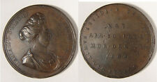 GB. 1694 Mary Death Medal. A large, bronze medal by the Roettier brothers. VF.