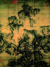 Art Spring Chinese Landscape Tumbled Marble Mural Backsplash Bath Tile #2617