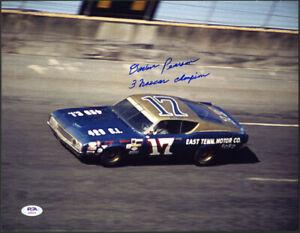 David Pearson SIGNED 11x14 Photo HOF NASCAR Champion LEGEND PSA/DNA AUTOGRAPHED