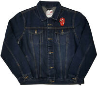 THE ROLLING STONES Classic Tongue Band Logo DENIM JACKET JEANS JACKE OFFICIAL