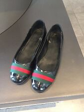 Gucci Ballerinas Flats Ballets 38 Lack Lackleder schwarz wie neu , original !!!