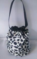 cruella de ville hand bag 101 Dalmatian pouch Fairy tale handmade black lining