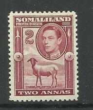 Somaliland 1938 Sg 95, 2a Maroon, Lightly Mounted Mint [551]