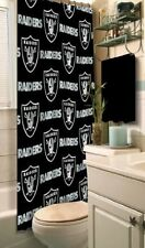 NFL Fabric Shower Curtain, Oakland Raiders, NEW