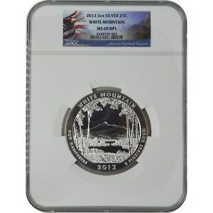 2013 White Mountain America The Beautiful ATB 5 Oz Silver Coin NGC MS69 DPL