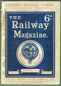 """The Railway Magazine"" Issue No 164, Vol XXVII, February 1911"