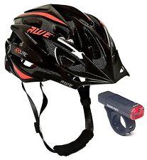 AWE®AeroLite™ Mens Gents InMould Bicycle Helmet Black/Red Size 58-61cm