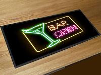Cocktail Bar open Bar runner counter mat Pubs Clubs & Cocktails Bars Home Bars