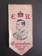 Silk Bookmark Stevengraph Coronation 1937 King Edward VIII Brough Nicolson Hall