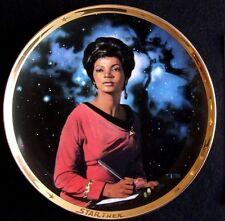 Uhura Star Trek 25th Anniversary Commemorative Plate by Thomas Blackshear 1991