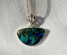 "Azurite In Malachite Morenci Mines 925 Silver Pendant Jewelry 925 Necklace 18""L"