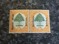SOUTH WEST AFRICA POSTAGE STAMPS SG43 PAIR 6D GREEN & ORANGE LIGHT-MOUNTED MINT
