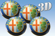 ALFA ROMEO SPIDER GTV 164 156 MILANO WHEEL RIMS CENTRE EMBLEM DECALS STICKERS