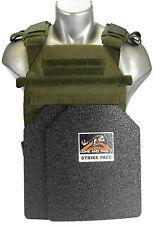 "Body Armor CATI ARMOR  (AR)500 Steel Plates  1/4"" Frag Coating Sentry OD"