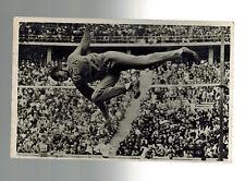 Mint 1936 Germany Olympics Cornelius Johnson High Jump Real Picture Postcard