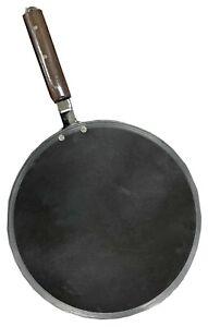 Pure Iron Tawa Pan Chapatti Indian Flatbread Naan Paratha Cooking Dosa Roti 30cm
