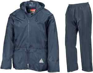 RESULT Regenanzug / Regenbekleidung  / Regenjacke und Regenhose marineblau