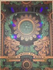 Widespread Panic Helton Status Poster 2015 Green Foil Variant Oakland