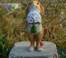 Cute Easter Rabbit Desk Decoration Garden Bunny Animal Figure Home Presents