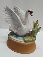"Vintage Andrea by Sadek Swan Lake Bird Figurine music box 5"""