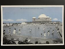 Wales RHYL The Childrens Paddling Pool - Old Postcard by E.T.W. Dennis