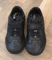Boy's Clarks Black Light Up Shoes Size 7F (infant) Jets Plane School Pilot