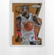 2014-2015 PANINI PRIZM BASKETBALL GREG MONROE ORANGE DIE-CUT PRIZM #103 077/139