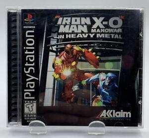 Iron Man X-O Manowar Heavy Metal Sony Playstation 1 Complete Black NTSC CIB PS1