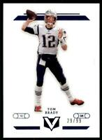 2019 Chronicles Vertex Blue #V-22 Tom Brady /99 - New England Patriots